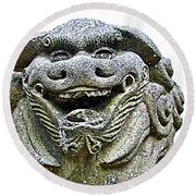 Komainu04 Round Beach Towel