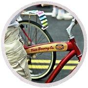 Kona Beer Bike Round Beach Towel