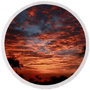 Kona Fire Sky Round Beach Towel