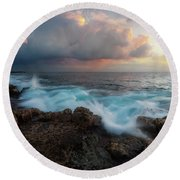 Round Beach Towel featuring the photograph Kona Gold by Ryan Manuel