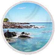 Kona Hawaii Reef Round Beach Towel by Joe Belanger