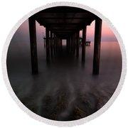 Konakli Pier Round Beach Towel by Tor-Ivar Naess