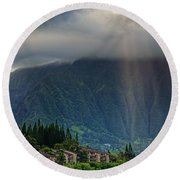 Koolau Sun Rays Round Beach Towel