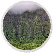 Ko'olau Waterfalls Round Beach Towel