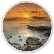 Koolina Sunset At The Cove Round Beach Towel