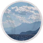 Kootenay Lake South Round Beach Towel by Cathie Douglas