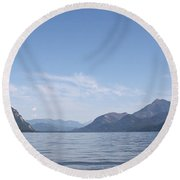 Kootenay North Round Beach Towel by Cathie Douglas