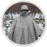 Korean War Memorial Round Beach Towel