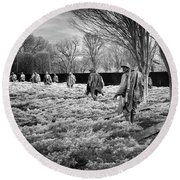 Korean War Memorial Round Beach Towel by Paul Seymour