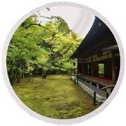 Koto-in Zen Temple Maple And Moss Garden - Kyoto Japan Round Beach Towel