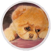 Koty The Puppy Round Beach Towel