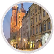 Round Beach Towel featuring the photograph Krakow by Juli Scalzi