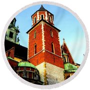 Round Beach Towel featuring the photograph Krakow Poland by Michelle Dallocchio