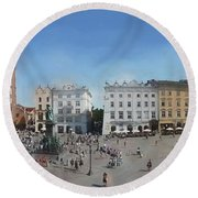 Krakow, Town Square Round Beach Towel