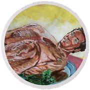 Kramer Turkey Round Beach Towel