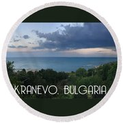 Kranevo Bulgaria Round Beach Towel