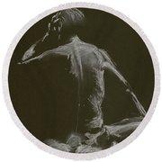 Kroki 2015 01 10_14 Figure Drawing White Chalk Round Beach Towel