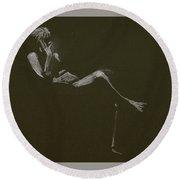 Kroki 2015 01 10_5 Figure Drawing White Chalk Round Beach Towel