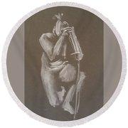 Kroki 2015 06 18_4 Figure Drawing Chinese Sword White Chalk Round Beach Towel