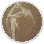 Kroki 2015 06 18_9 Figure Drawing White Chalk Round Beach Towel