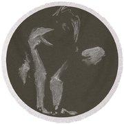 Kroki 2015 10 03_10 Figure Drawing White Chalk Round Beach Towel