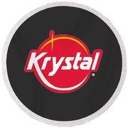 Krystal Round Beach Towel