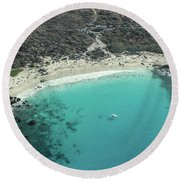 Kua Bay Aerial Round Beach Towel