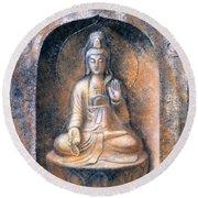 Kuan Yin Meditating Round Beach Towel