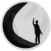 Round Beach Towel featuring the photograph Kubitschek by Beto Machado
