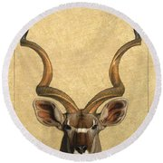 Kudu Round Beach Towel by James W Johnson