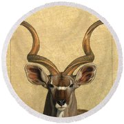 Kudu Round Beach Towel