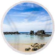 Kukio Round Beach Towel by Denise Bird