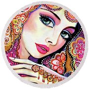 Kumari Round Beach Towel