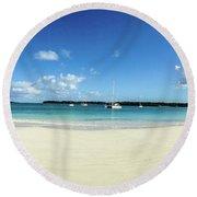 Kuto Bay Morning Pano Round Beach Towel