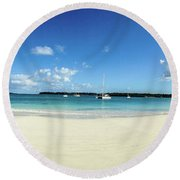 Kuto Bay Morning Pano Round Beach Towel