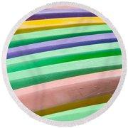 Kyak Rainbow Round Beach Towel