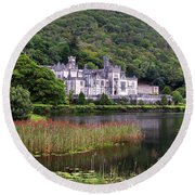 Kylemore Abbey, County Galway, Round Beach Towel