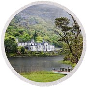 Kylemore Castle Round Beach Towel