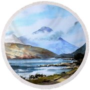 Kylemore Lough, Galway Round Beach Towel