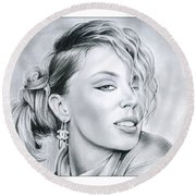 Kylie Minogue Round Beach Towel