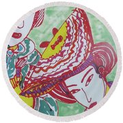 Kyoto Japan  Round Beach Towel