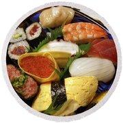 Kyoto Japan Economy Sushi Plate Round Beach Towel