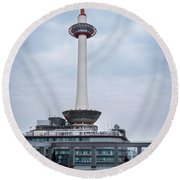 Kyoto Tower, Japan Round Beach Towel