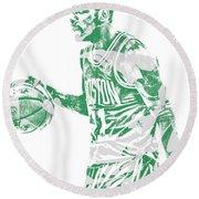 Kyrie Irving Boston Celtics Pixel Art 40 Round Beach Towel