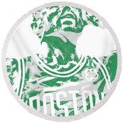 Kyrie Irving Boston Celtics Pixel Art 41 Round Beach Towel