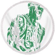 Kyrie Irving Boston Celtics Pixel Art 42 Round Beach Towel