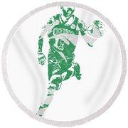 Kyrie Irving Boston Celtics Pixel Art 60 Round Beach Towel