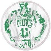 Kyrie Irving Boston Celtics Pixel Art 8 Round Beach Towel