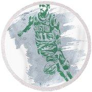 Kyrie Irving Boston Celtics Water Color Art 3 Round Beach Towel