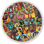 -sold- Living In The Harmony Garden  Round Beach Towel